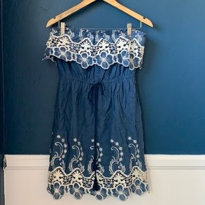 LOVECULTURE STRAPLESS DRESS